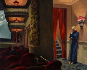 Edward Hopper, New York Movie, 1939.  Oil on canvas. 81.9 x 101.9 cm. Collection of The Museum of Modern Art. Given anonymously. Acc. n.: 396.1941 © 2016. Digital image, The Museum of Modern Art, New York/Scala, Florence.