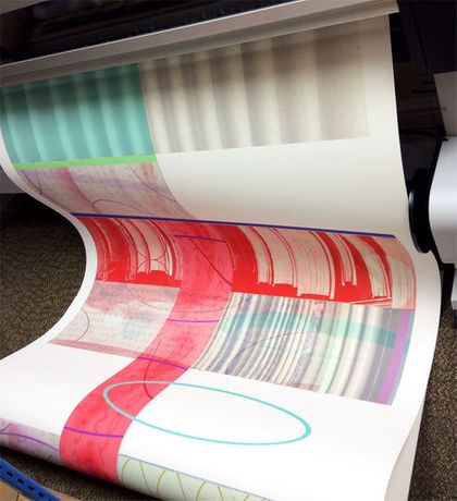 Anne Krinsky: Printing archival digital scroll at Thames Barrier Print Studio