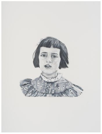 Amy Simon 'Damaged No 1' 2019, 41 x 31 cm, Pencil on Paper