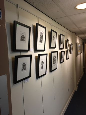 Wood engravings in situ