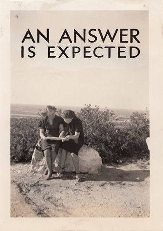 An Answer is Expected: Susan MacWilliam: Image 0