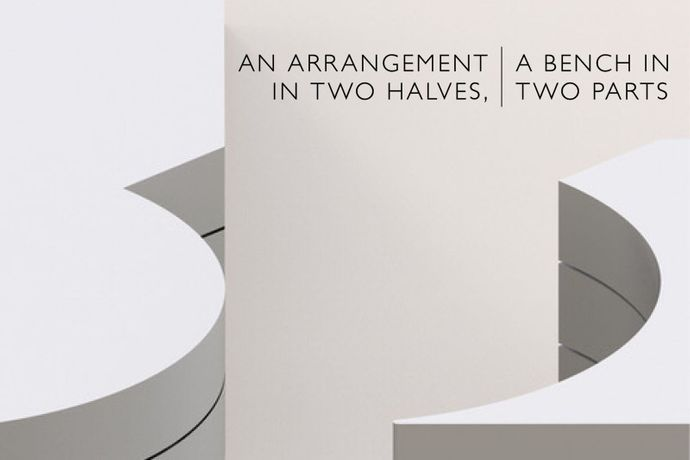 AN ARRANGEMENT IN TWO HALVES, A BENCH IN TWO PARTS - James Fuller and Marco Miehling: Image 0