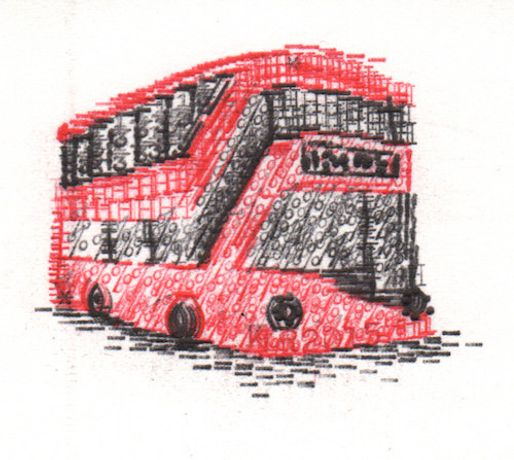 Heatherwick Bus 6 x 6 inches £155