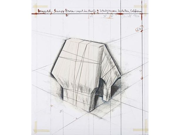 Wrapped Snoopy House, Christo & Jeanne Claude
