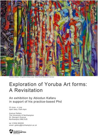 An Exploration of Yoruba Art Forms: A Revisitation by Abiodun Kafaru: Image 0