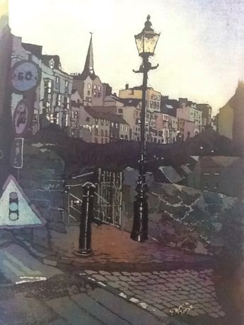Tenby by night by Rhona Tooze