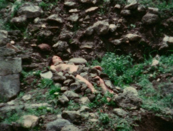 Burial Pyramid 1974 Ana Mendieta Super-8 movie.  © The Estate of Ana Mendieta Collection, LLC. Courtesy Lelong Gallery & Co.