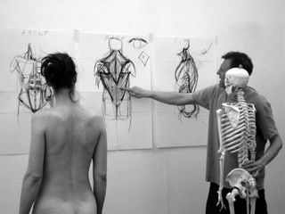 Alan McGowan, anatomy skeleton and life model