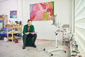 Rhiannon Rebecca Salisbury in her Hackney studio