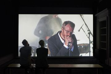 Installation view of Ragnar Kjartansson 'A Lot of Sorrow', 2013 Single-channel video. 6 hours and 9.35 minutes. Ingleby, Edinburgh (8 August - 2 September 2017). Photograph: John McKenzie. Courtesy the artist and Ingleby, Edinburgh