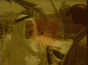John Latham, still from The Gulf, video, 1984. From the series Targets, commissioned by Anna Ridley's Annalogue Productions for Channel 4 in as part of Dadarama. Courtesy Anna Ridley and the Artist