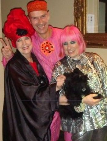 Andrew logan Molly Parkin and Zandra Rhodes 2008