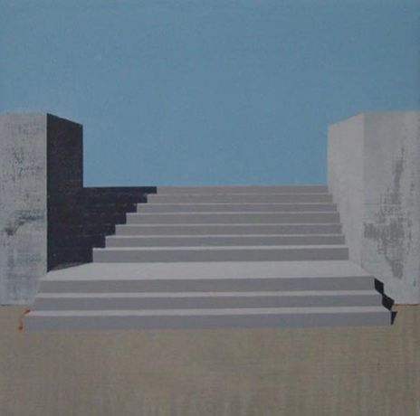 Andrew Smaldone, Stairs #5, 2010, oil on linen, 30x30cm