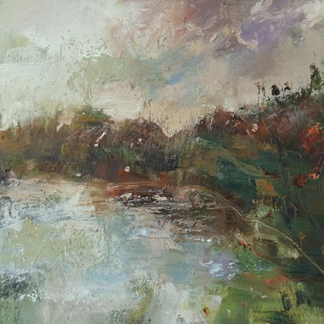 River of Early Promise by Andy Waite, 30 x 30cm