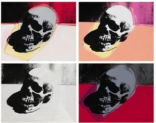 Detail from Andy Warhol, Skulls, 1976