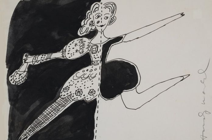 Untitled (Dancer), 1955-67 ink on paper, signed 8.5 x 11 inches © 2016 The Andy Warhol Foundation for the Visual Arts, Inc. / Artists Rights Society (ARS)