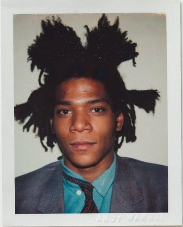 Andy Warhol, Jean-Michel Basquiat, 1982, Polacolor ER, 10.8 x 8.5 cm. ©2018 The Andy Warhol Foundation for the Visual Arts, Inc. Licensed by DACS, London. Courtesy BASTIAN, London.