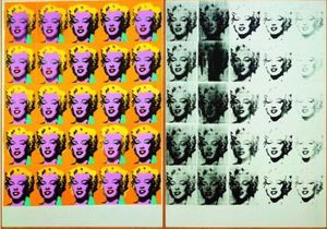 Andy Warhol, Marilyn Diptych 1962. Tate. © 2019 The Andy Warhol Foundation for the Visual Arts, Inc. / Artists Right Society (ARS), New York and DACS, London