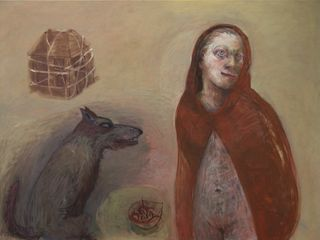 Marcelle Hanselaar, Red Riding Hood 2 (detail), 2010. Oil on canvas.