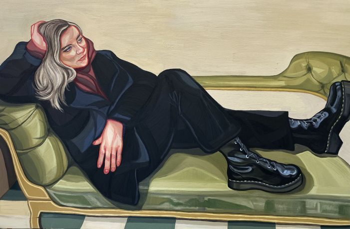 Dr Martens, 150 x 100cm, oil on canvas, Ania Hobson