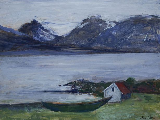 Oram, Icelandic Mountains and boat