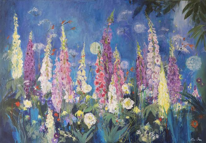 Ann Oram, Foxgloves and Alliums, Chelsea