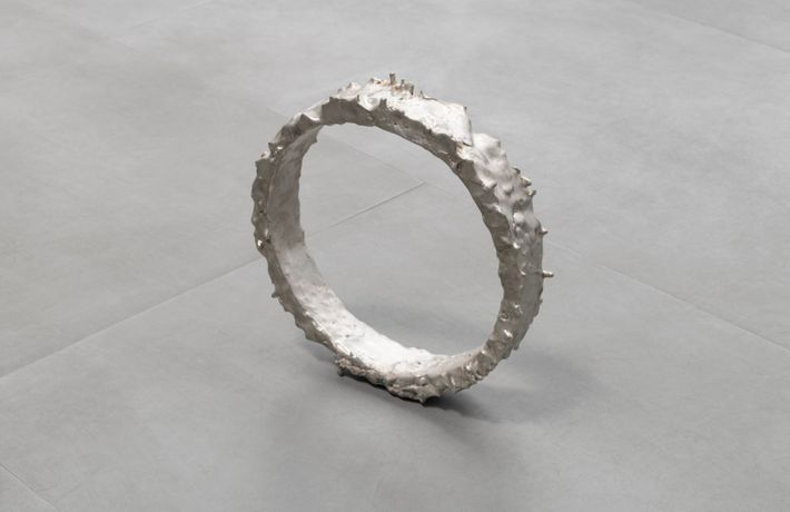 Michel François, Dancer Ring, Tin and aluminium, 11 x 11 x 2 1/4 in / 28 x 28 x 6 cm