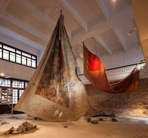 Anna Boghiguian The Salt Traders 2015 courtesy : Castello di Rivoli, Torino