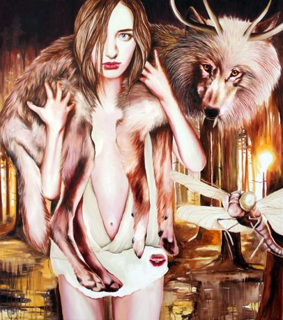 Anna Borowy Cure 180 x 170 cm oil on canvas 2015