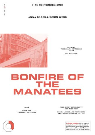 Anna Brass & Robin Webb: Bonfire Of The Manatees: Image 0