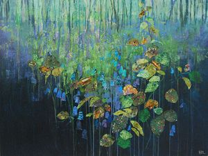Brambles & Bluebells, Mixed Media by Anna Perlin