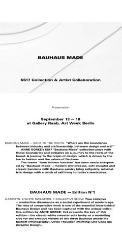 Anne Gorke: Bauhaus Made: Image 0