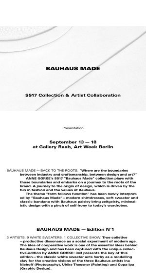 Anne Gorke: Bauhaus Made
