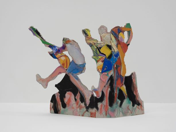 Anne Ryan, Mosh pit, 2019, acrylic on card cutout, 37x50cm
