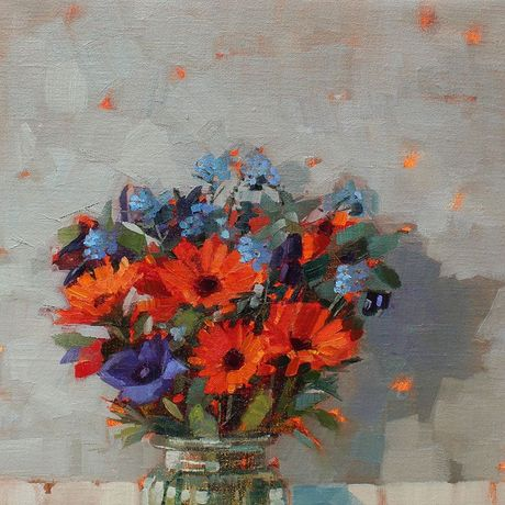 Anne-Marie Butlin, Still Life with Calendula