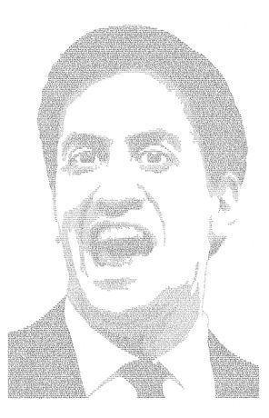 Annemarie Wright, Nick Clegg, Ink on paper, 93 x 66cm