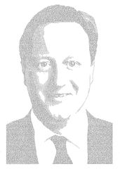 Annemarie Wright, David Cameron, Ink on paper, 93 x 66cm
