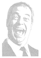 Annemarie Wright, Nigel Farage, Ink on paper, 93 x 66cm