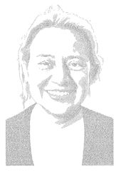 Annemarie Wright, Natalie Bennett, Ink on paper, 93 x 66cm