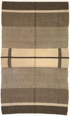 Anni Albers  With Verticals, 1946 Cotton and linen 154.9 × 118.1 cm The Josef and Anni Albers Foundation, Bethany CT Photo: Tim Nighdwander/Imaging4Art ©The Josef and Anni Albers Foundation, VEGAP, Bilbao, 2017