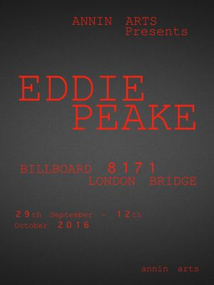 Annin Arts presents Eddie Peake