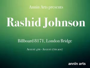 Annin Arts presents Rashid Johnson