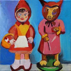 Little Red Riding Hood and the Wolf in Conversation