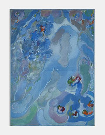 Untitled (AZ-5) Oil on canvas 1965 72 x 52 inches