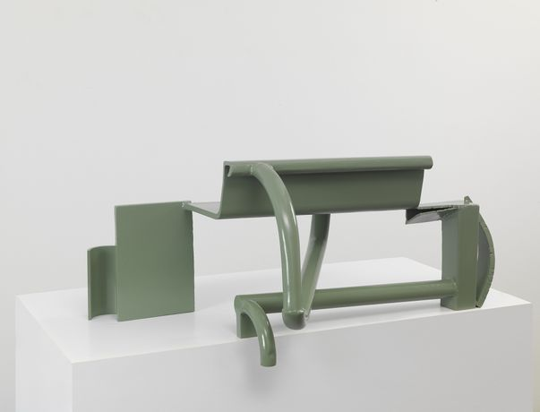 Table Piece CIX, Steel, painted slate grey, 48.3 x 106.7 x 61cm Photo: Mike Bruce Courtesy of Barford Sculptures and Gagosian Gallery