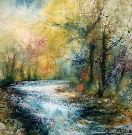 Stewart Edmondson, Bright River Shine 87 x 87cm