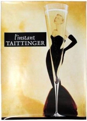 Taittinger Champagne - L'Instant Taittinger 1988 featuring the Grace Kelly design