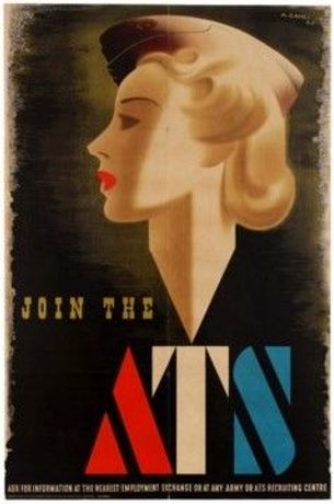 Join the ATS Blonde Bombshell WWII recruitment poster by Abram Games