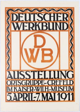 DWB 1911 exhibition poster - www.AntikBar.co.uk