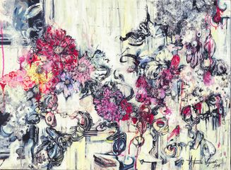 Antoinette Wysocki A Wallflower No More  2015 Mixed media on canvas 20 x 30 in (50.8 x 76.2 cm)